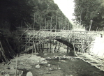 Rebuilding the Sacred Bridge at Nikko after the 1902 flood
