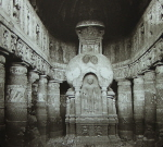 Chaitya interior at Ajanta