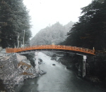 Sacred bridge of Nikko before the 1902 flood