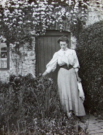 Woman at her cottage