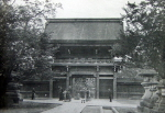 Temple and Bull at Kioto
