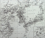 Map of Japanese seas by George Washington Wilson